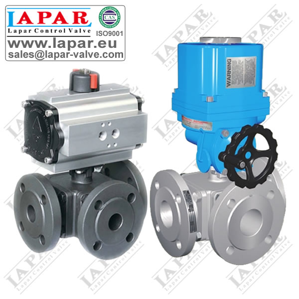 LPA13 Flanged Three-way Ball Valve