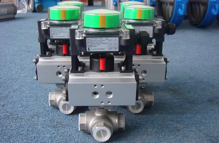 Pneumatic Thread Three-way Ball Valve