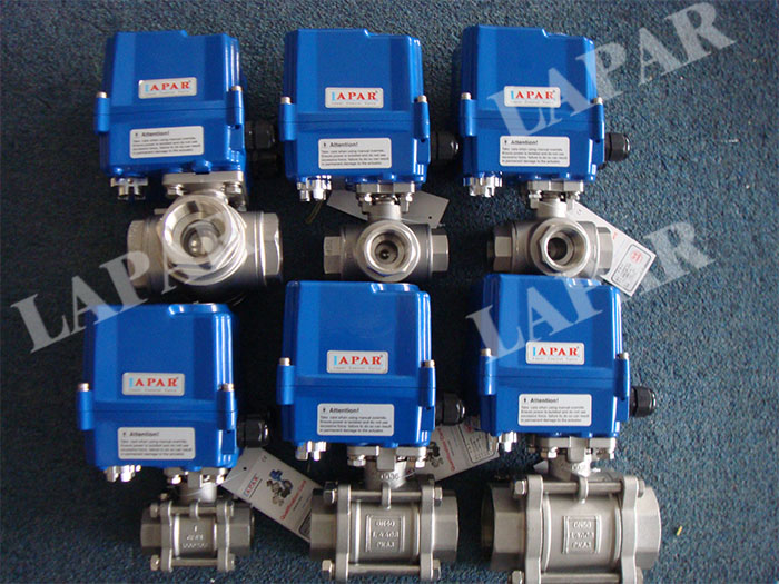 Electric Thread Three-way Ball Valve