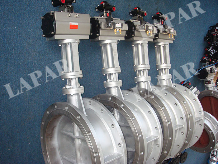 LPB17 Pneumatic Actuated Damper with Long Neck, Pneumatic Aeration Butterfly Valve for High Temperature  Application