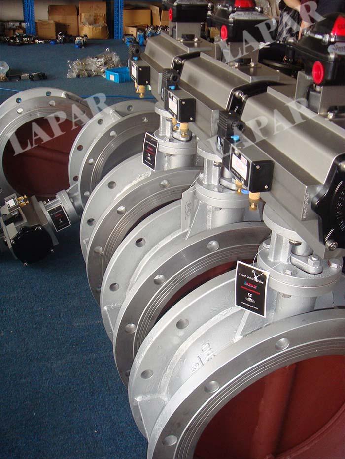 LPB17 Pneumatic Actuated Damper, Pneumatic Aeration Butterfly Valve